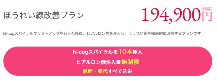 東京イセアクリニックのほうれい線改善プランについて
